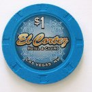 $1 Dollar El Cortez Casino Chip Downtown Las Vegas