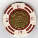 $1 Dollar Gaming chip from the Bahama Princess Casino