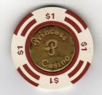 $1 Dollar Gaming chip from the Bahama Princess Casino