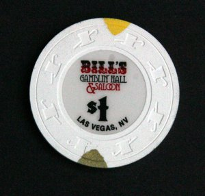 $1 Dollar Bills Gamblin Hall & Saloon Las Vegas Casino Chip