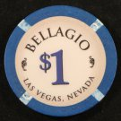 $1 Dollar Bellagio Obsolete Chip Las Vegas Casino Chip