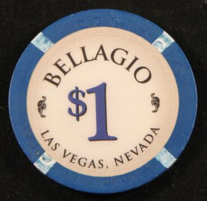 $1 Dollar Bellagio Obsolete Chip Las Vegas Casino Chip