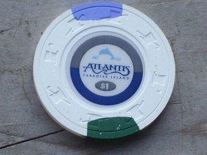 $1 Dollar Atlantis Casino Paradise Island Chip