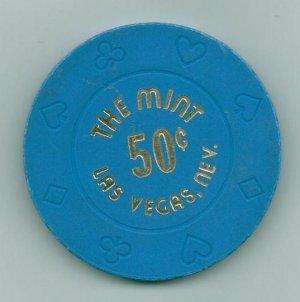 Obsolete - 50 Cent The Mint Casino Chip LAS VEGAS, NEV.