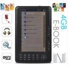 7 inch 4GB eBook Reader MP4 Player Bookmark function, Calendar function Black