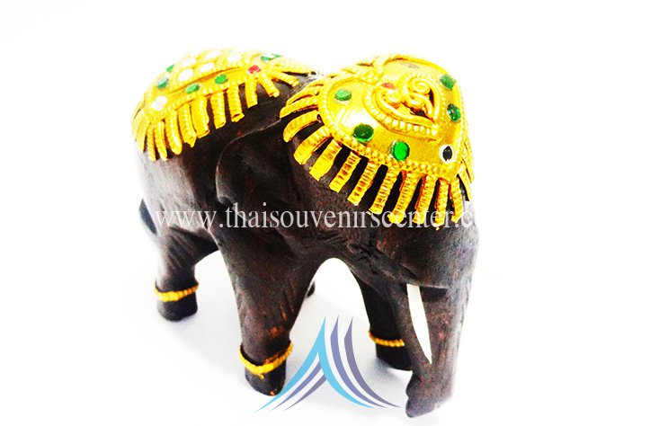 Thai wooden elephant 4 inches height