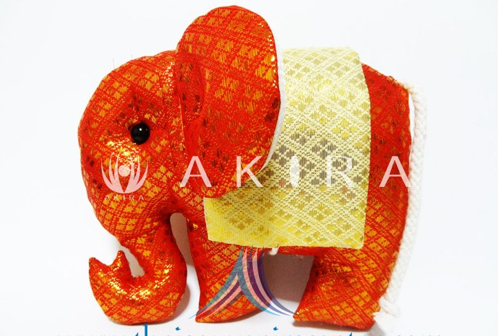 Thai Elephant Silk Decorative Pillow