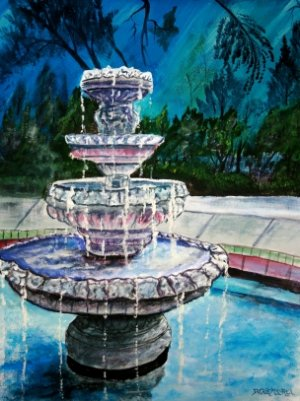 water fountain limited edition art print