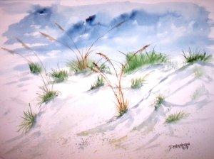 Dunes 3 beach giclee art print