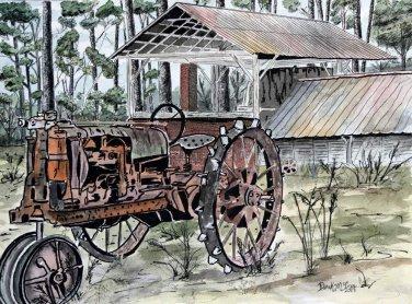 farm tractor art print