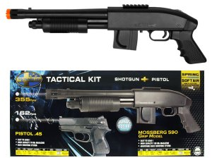 Mossberg M590 Tactical Spring Shotgun AND PISTOL Airsoft Kit