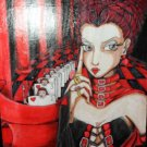 Alice in Wonderland Red Queen hand made painting