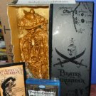 "Pirates of the Caribbean Blu-Ray DVD Movie Trilogy & Gold Disney Theme Park 12"" Pirate"