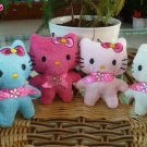 Hello Kitty 4-Doll Plush Set