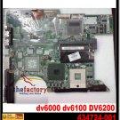 For HP motherboard 434724-001 DV6000 V6000 motherboard intel 945GM integrated DDR2 laptop mainboard