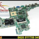 Laptop motherboard for DELL D820 100% tested windows 7 laptop mainboard free shipping