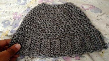 Crochet Messy Bun Hat