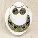Empress Necklace & Earring Set: Elephant