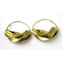 "XXX-Large Fula Gold Earrings - 2¼"""