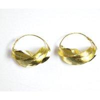 """Large Fula Gold Twist Earrings - 1½"""""""
