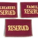 Velvet Reserved Seat Signs