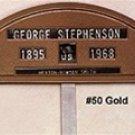 Cast Aluminum Grave Markers-GOLD