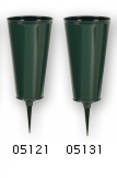 "Cemetery Vase-Plastic-Flat Bottom- 4""- Case of 36"