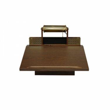 Deluxe Wall Register Desk-Walnut