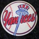 NY YANKEES PIN BUTTON VINTAGE PART OF YANKEE HISTORY! TOP HAT AND BAT