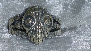 Vintage Spider man Marvel Comics sterling silver size 7 ring man or woman