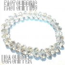 Crystal Clear Glass crystal bead stretch bracelet lose stone