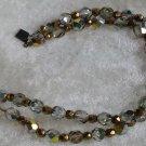 Vintage Gold tone crystal rhinestone wedding bracelet Beautiful
