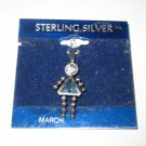 Necklace Mother March girl child sterling silver no chain  cute charm 1980s