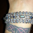 vintage Aurora Borealis blue rhinestone elegant bracelet