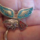 Vintage American Eagle   American India pendent stones 986 G & S