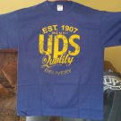 United Parcel Service UPS Quality delivery New Tee Shirt Blue Large