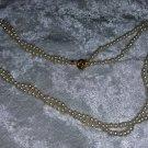 Vintage faux pearl necklace princess girl woman petite 2 tier so Downton Abbey