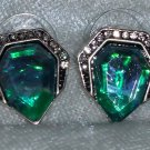 Rhinestone Earrings Blue Acrylic Gem Stud Earring new different
