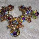 Vintage pin brooch aurora borealis different v shape stunning starship LOL