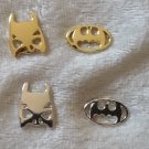 Batman Mask and Logo Stud Earrings Super Heroes pick silver or gold plated