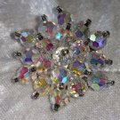 Aurora borealis Crystal glass cluster stunning vintage pin brooch