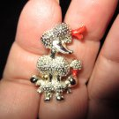 Poodle pin brooch vintage cute gold tone scatter pin