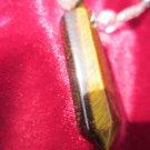 Tiger eye quarts silver tone pendent necklace vintage Reiki nice crystals
