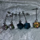 geometrical dangle blue clear red and rainbow dangle cube box square Mod