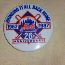 Mets bringing it all back home 26th anniversary pin 1962 1987 vintage