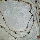 Vintage gold tone necklaces two of them cameo and black beads