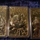Limited Edtion Pokemon 23K gold plated Trading cards Burger King Vintage