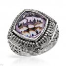 Stylish Brand New Cocktail Ring With 9.75ctw Genuine Amethyst Beautiful