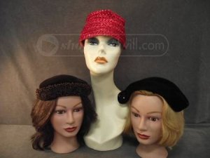Trio of Vintage Ladies Fashion Hats