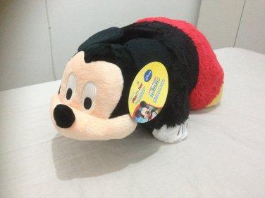 Disney Huggable Plush mickey mouse Pillow Pet Pal Fold up Toy